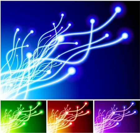 Lens Flare on Light Line Background Original Illustration illustration