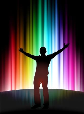 Fun Party on Abstract Spectrum BackgroundOriginal Illustration Standard-Bild