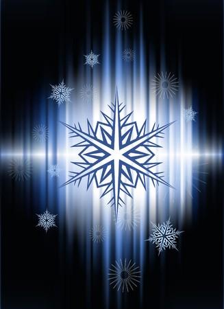 Snow Flakes on Abstract Spectrum Background  Original Illustration Stock fotó