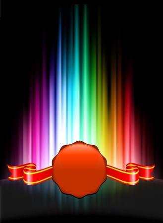 Wax Seal Icon Button on Abstract Spectrum BackgroundOriginal Illustration Stock Illustration - 7569183