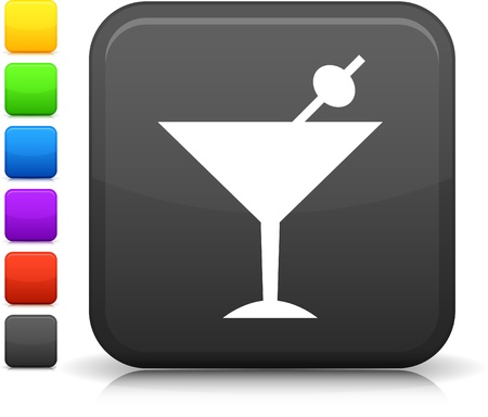 glass reflection: martini icon
