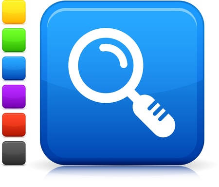 glass reflection: Magnifying Glass icon Illustration