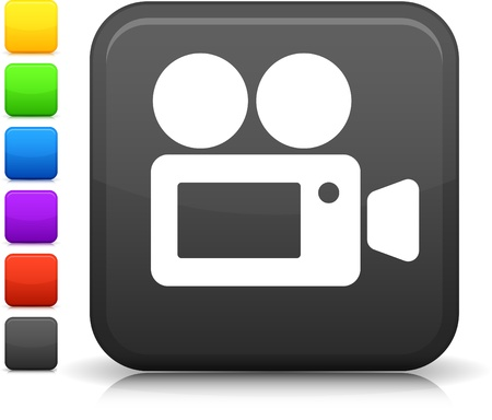filming: Movie Camera icon Illustration