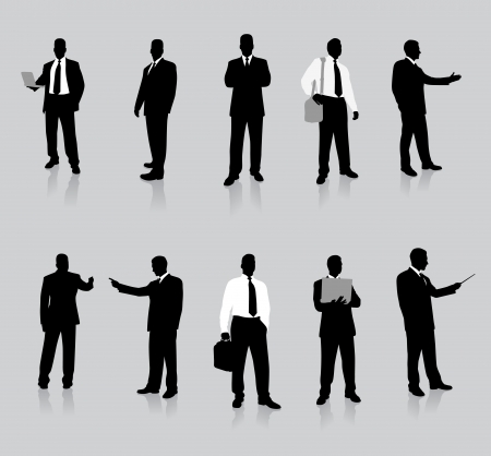 Businessman Silhouette Collection Vector
