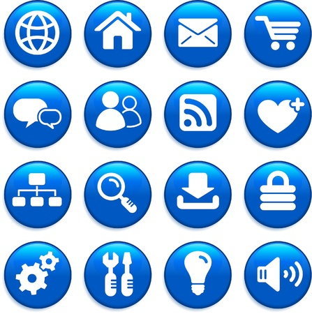 internet design icon set Vector