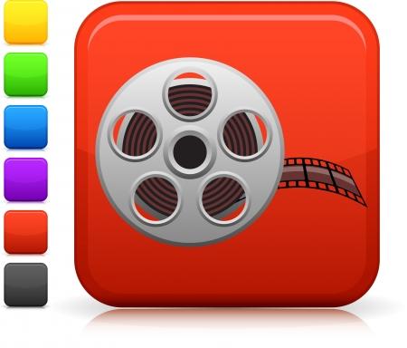 Film reel icon Stock Vector - 20483066