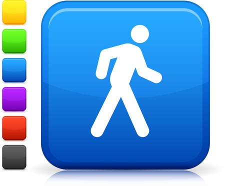 walking stick: walking icon Illustration