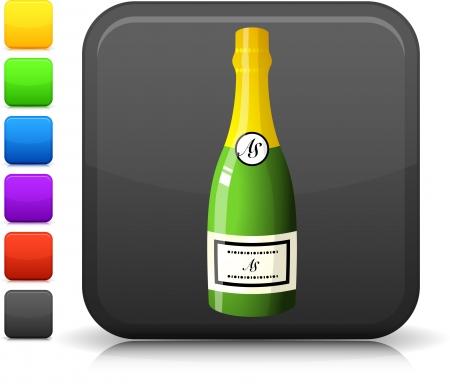 bouteille champagne: ic�ne de bouteille de champagne