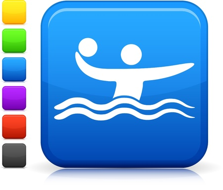 waterpolo: Water Polo icono Vectores
