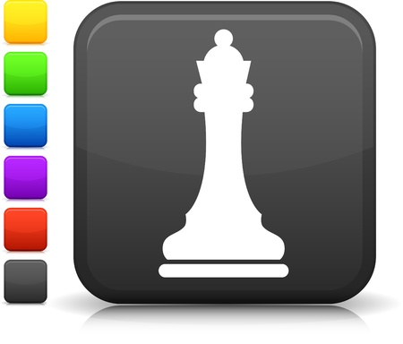 chess queen icon Ilustrace