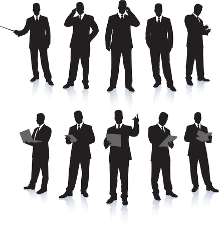 Businessman Silhouette Collection Imagens - 20482986