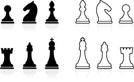 chess knight: Colecci�n simple juego de ajedrez