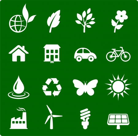 environment elements icon set Vector
