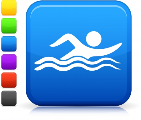 butterfly stroke: Swimming icon Illustration