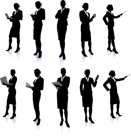 Businesswoman Silhouette Collection Stock fotó - 20477463