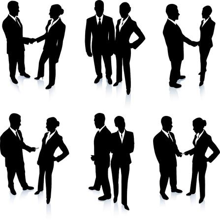 Business Team silhouet collectie Originele vectorillustratie Mensen silhouet Sets