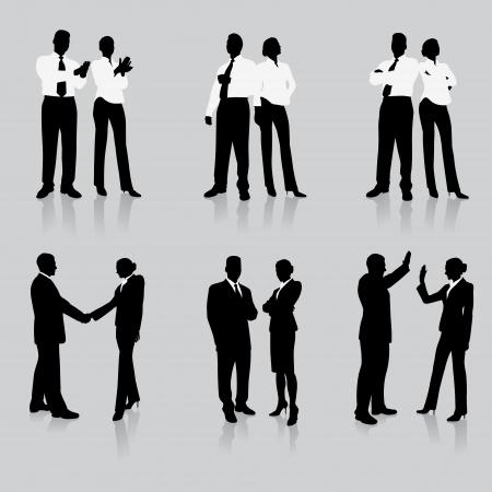 Business Team Silhouette Collection Ursprünglichen Vector Illustration Menschen Silhouette Sets Standard-Bild - 20482374