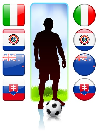 SoccerFootball Group F Original Vector Illustration Vector