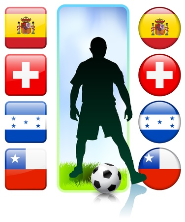 SoccerFootball Group H Original Vector Illustration Vector
