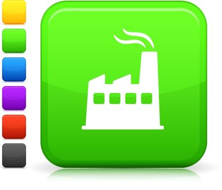 f�brica: Ícone de vetor original. Seis opções de cores incluído.