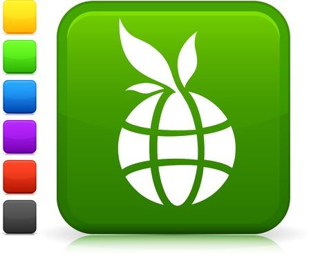 reforestaci�n: Icono de vector original. Seis opciones de color incluidas. Vectores