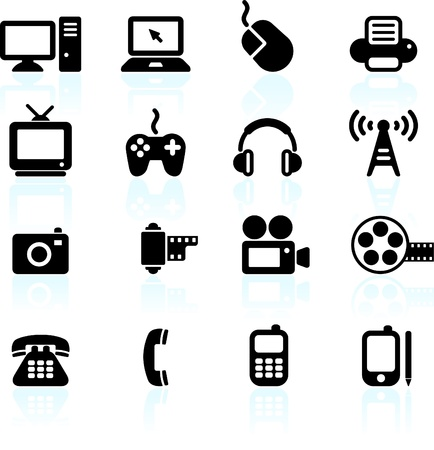 Original vector illustration: technology and communication design elements Vector