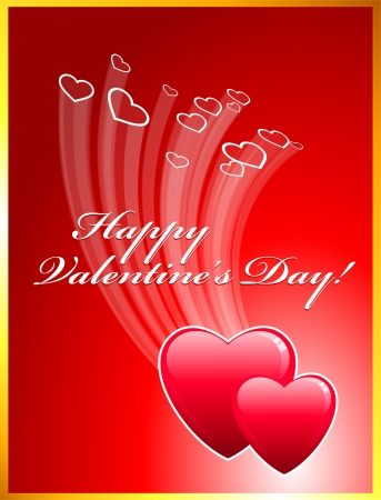Valentines Day Card Original holiday vector illustration Illustration