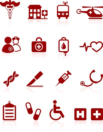 Original vector illustration: medical hospital  internet icon collection Vector