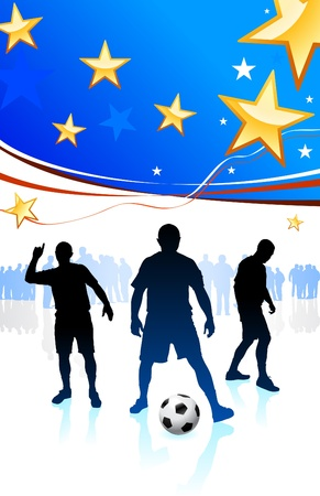 United States Soccer Player Original Vector Illustration Çizim