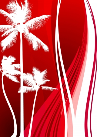 Abstract Palm Tree Background  Original Vector Illustration  Tropical Backgrounds
