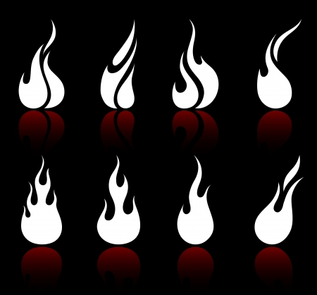 Original vector illustration: Flame and fire Vector