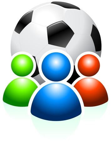 Soccer Ball with User GroupOriginal Vector IllustrationAI8 Compatible Stock Vector - 20482574