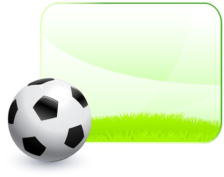 soccer field: Soccer Ball with Blank Nature Frame Background Original Vector Illustration AI8 Compatible