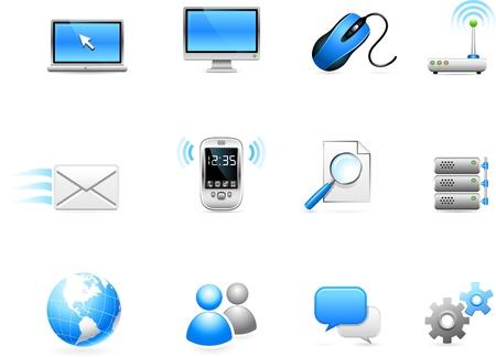 hard drive: Original vector illustration: Communication technology icon collection Illustration
