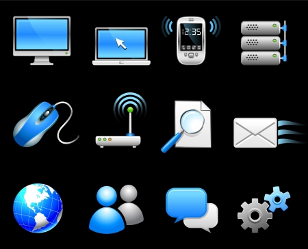 Original vector illustration: Communication technology icon collection Illustration