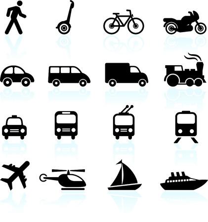 doprava: Původní vektorové ilustrace: přeprava ikony konstrukční prvky Ilustrace