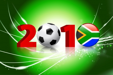 2010 Global Soccer Event on Abstract Light Background Original Illustration Vector