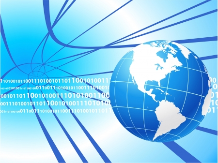 Globe on internet background Original Vector Illustration Globes and Maps Ideal for Business Concepts  Vector