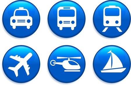 Transportation Buttons Original Vector Illustration Buttons Collection