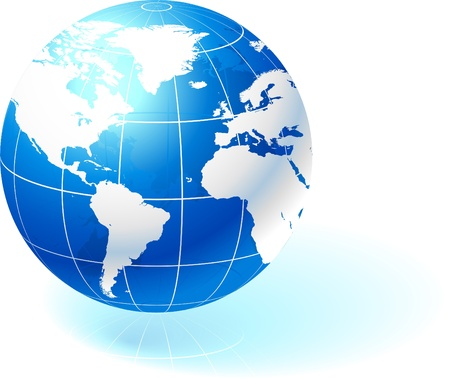 Globe on simple background