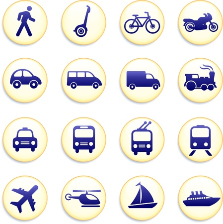 Original vector illustration: Transportation icons design elements  Vector