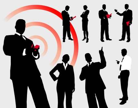 Business People Silhouette CollectionOriginal Illustration