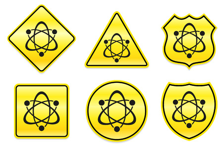 Atom Icon on Yellow Designs