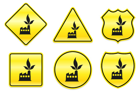 Factory-Symbol auf gelb Designs-Original Illustration Standard-Bild - 22317480