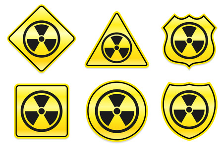 hazard: Hazard Icon on Yellow Designs Original Illustration
