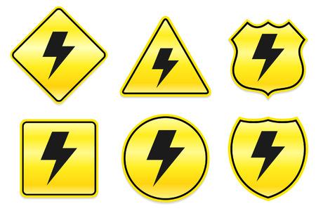 lightening: Aligerar el icono en dise?os de amarillos Ilustraci?n original  Vectores