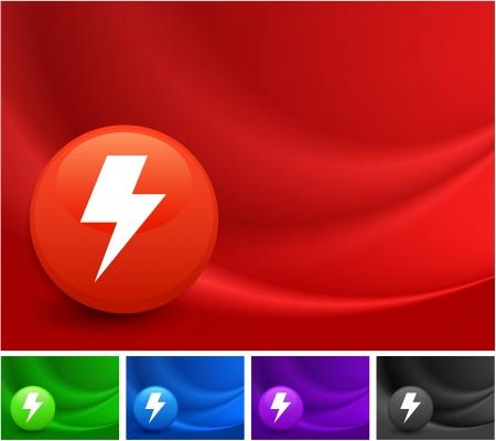 lightening: Lightening Icono de Colorido Resumen de onda de fondo Ilustraci�n original Vectores
