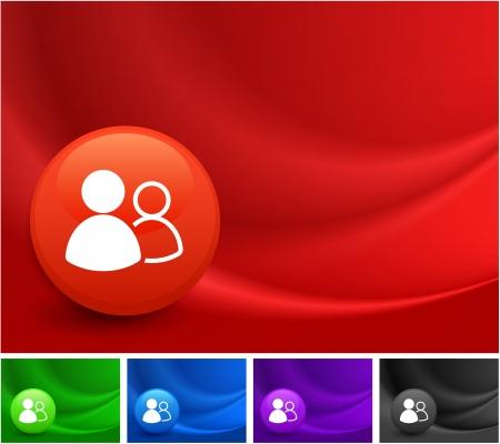 User Icon Groupe sur Multicolore Résumé vague de fond Illustration originale Banque d'images - 22317785