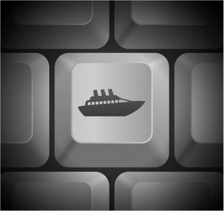 Cruise pictogram op Computer Keyboard Oorspronkelijke afbeelding