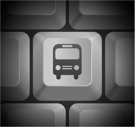 컴퓨터 키보드의 버스 아이콘 원래 그림 일러스트
